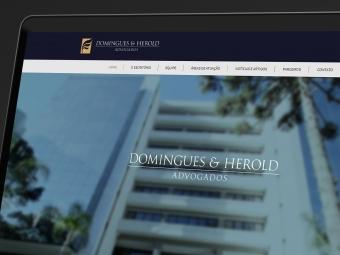 Site Domingues & Herold Advogados