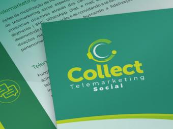 Folder e Site Collect Telemarketing Social